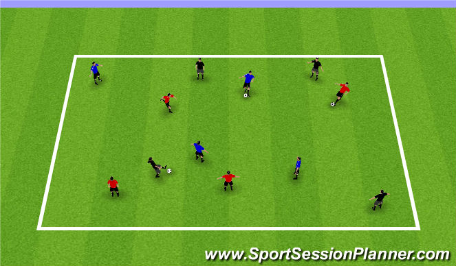 Football/Soccer Session Plan Drill (Colour): Passing and Receiving Warm-up