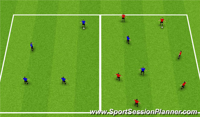 Football/Soccer Session Plan Drill (Colour): Ball Retrieval Game
