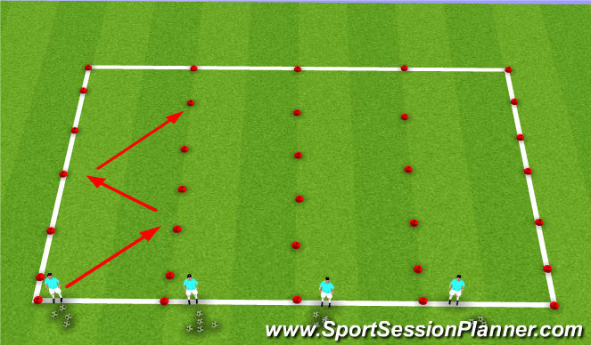 Football/Soccer Session Plan Drill (Colour): Defensive Footwork