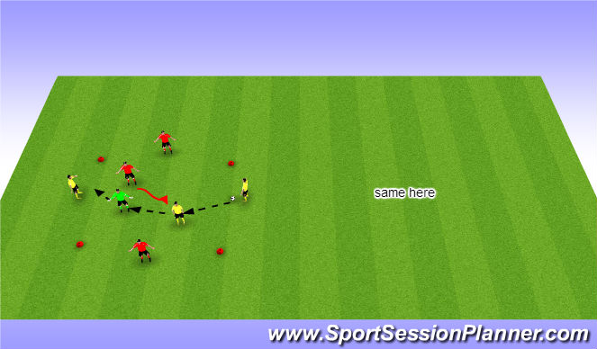 Football/Soccer Session Plan Drill (Colour): Arrival Activity & Warm up