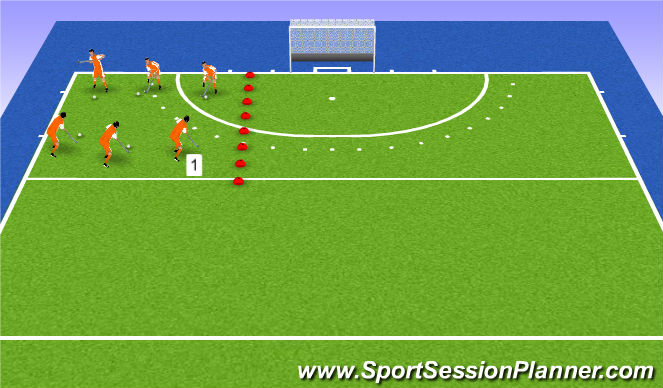 Hockey Session Plan Drill (Colour): catch me if you can