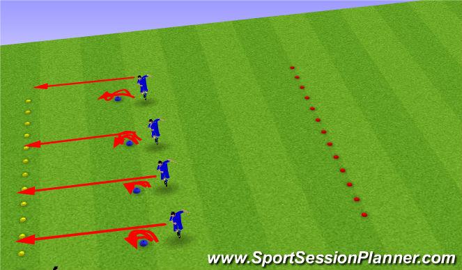 Football/Soccer Session Plan Drill (Colour): Reaction/Agility