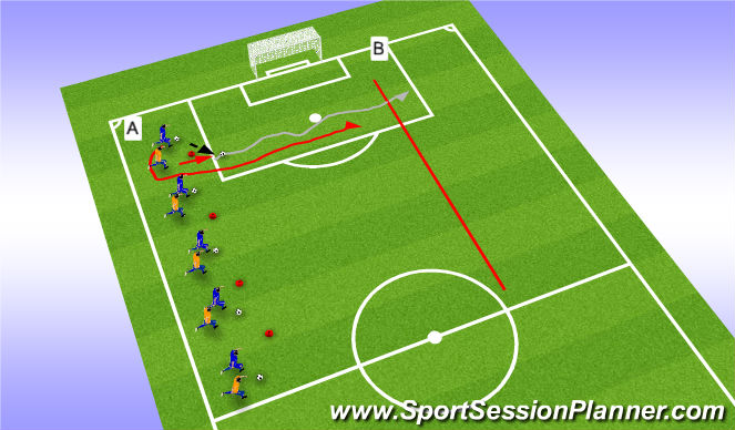 Football/Soccer Session Plan Drill (Colour): RWB/with pressure 2