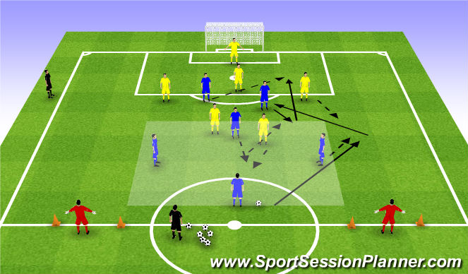 Football/Soccer Session Plan Drill (Colour): SSA (b)