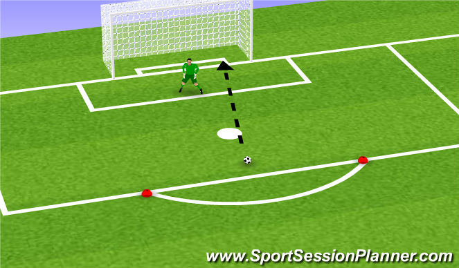 Football/Soccer Session Plan Drill (Colour): Handling Part 8