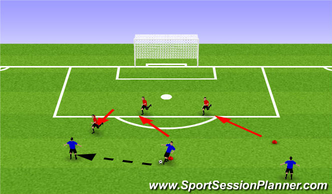 Football/Soccer Session Plan Drill (Colour): Shifting