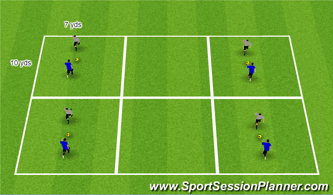 Football/Soccer Session Plan Drill (Colour): Warm-up/tec