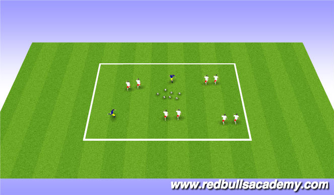 Football/Soccer Session Plan Drill (Colour): Blasters