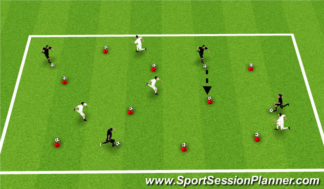 Football/Soccer Session Plan Drill (Colour): Cone Ball
