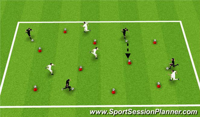 Football/Soccer Session Plan Drill (Colour): Cone Ball