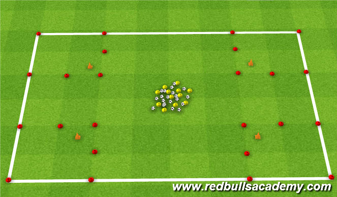 Football/Soccer Session Plan Drill (Colour): Ice Cream/Burger Shop