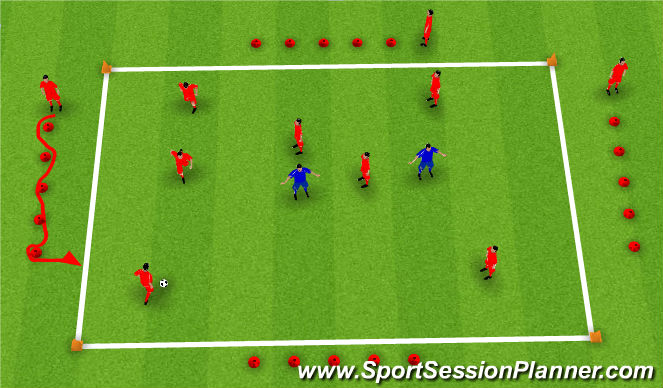Football/Soccer Session Plan Drill (Colour): SAQ Rondo