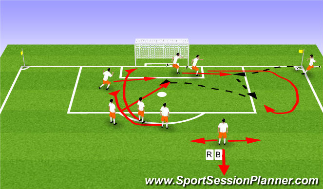 Football/Soccer Session Plan Drill (Colour): Valencia