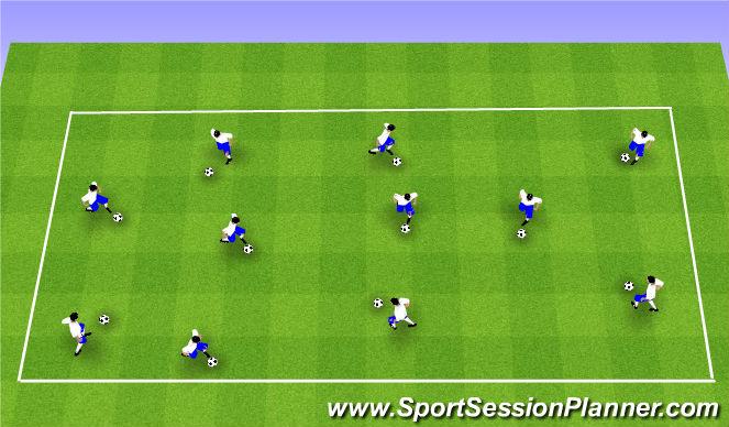 Football/Soccer Session Plan Drill (Colour): Skill Intro 1