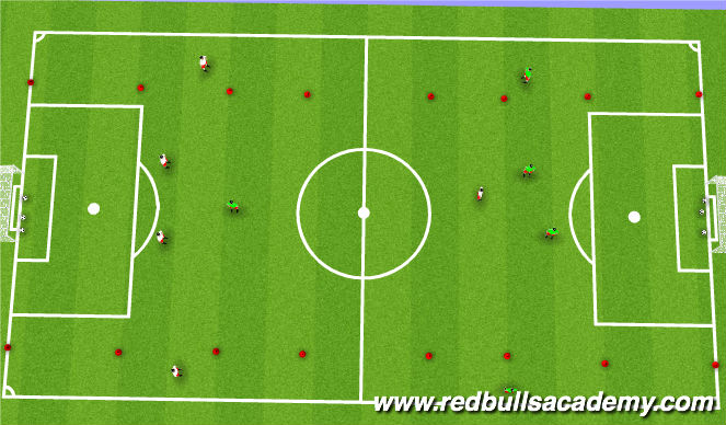 Football/Soccer Session Plan Drill (Colour): Condition Game Phase 3