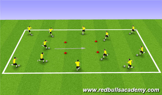 Football/Soccer Session Plan Drill (Colour): Warm Up (301)