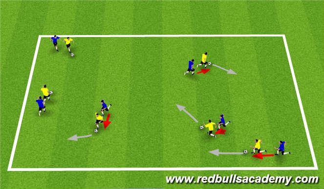 Football/Soccer Session Plan Drill (Colour): Main Theme (323)