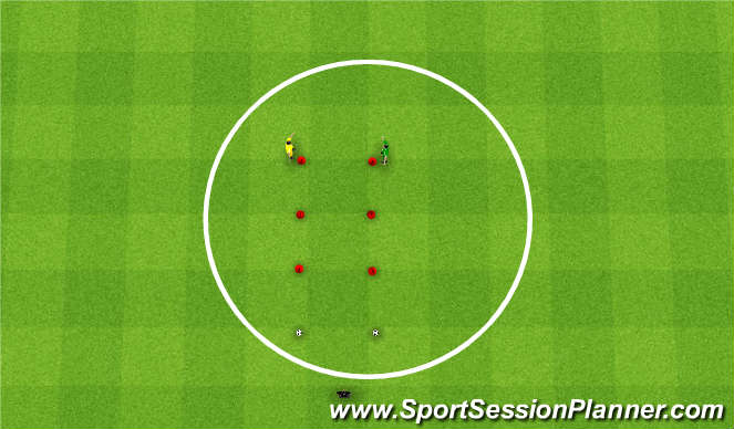 Football/Soccer Session Plan Drill (Colour): Agility/Speed