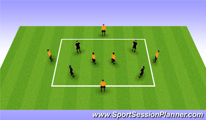Football/Soccer Session Plan Drill (Colour): 4v6