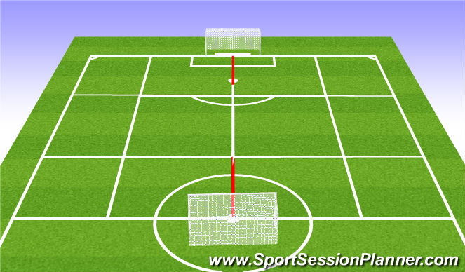 Football/Soccer Session Plan Drill (Colour): Stay out of the space