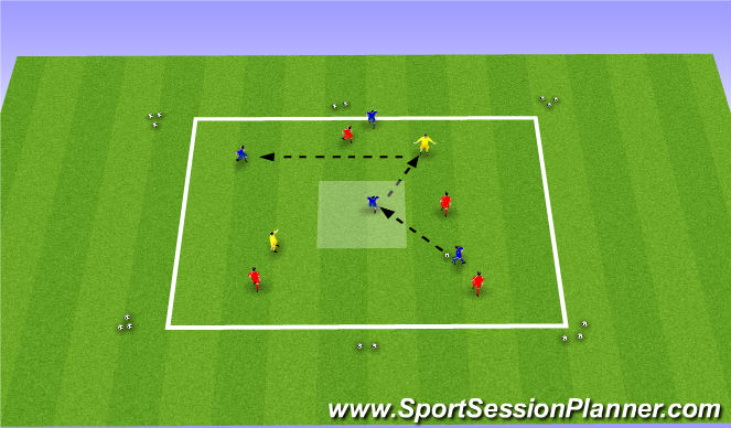 Football/Soccer Session Plan Drill (Colour): 4 vs 4 + 2
