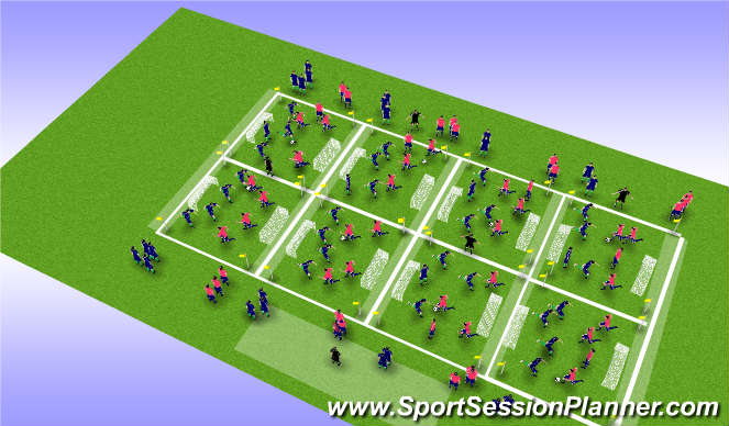 Football/Soccer Session Plan Drill (Colour): U6- MYSC_IDP