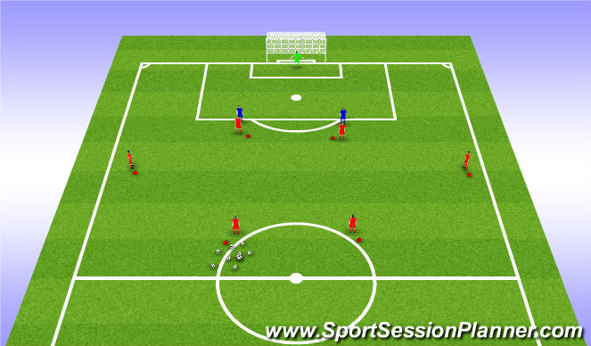 Football/Soccer Session Plan Drill (Colour): Drill Set Up