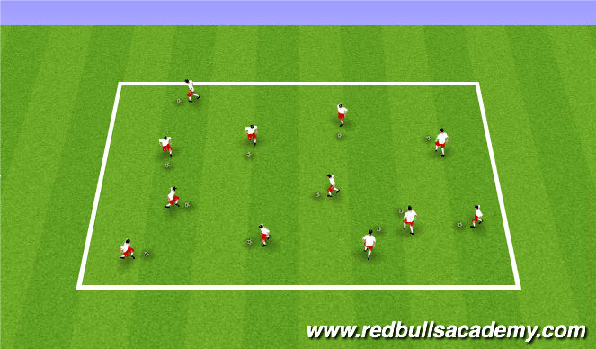 Football/Soccer Session Plan Drill (Colour): Ball Mastery SAQ