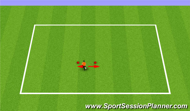 Football/Soccer Session Plan Drill (Colour): Bells
