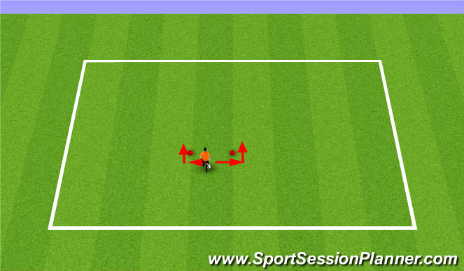 Football/Soccer Session Plan Drill (Colour): Pull Back Push