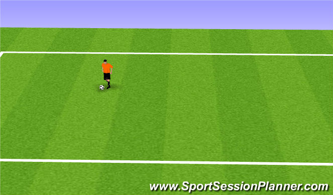 Football/Soccer Session Plan Drill (Colour): Sticky Tape