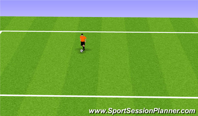 Football/Soccer Session Plan Drill (Colour): StepOverTouch