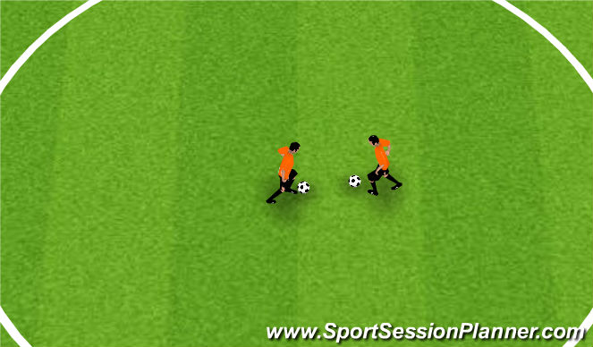 Football/Soccer Session Plan Drill (Colour): Brazillian Toe Taps Team