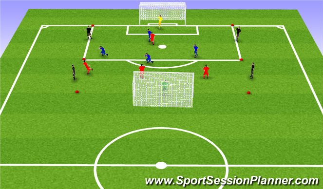 Football/Soccer Session Plan Drill (Colour): Spil: Brazzi