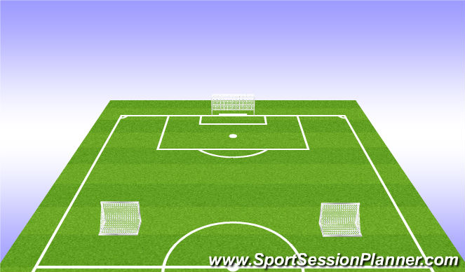Football/Soccer Session Plan Drill (Colour): 7 attacking players vs 4 defensive players