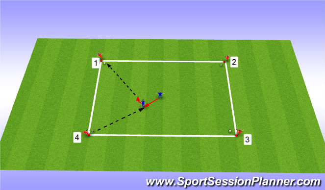 Football/Soccer Session Plan Drill (Colour): Intro Activity