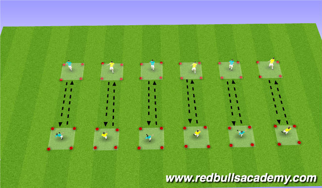 Football/Soccer Session Plan Drill (Colour): Technical Repetition: Lofted balls