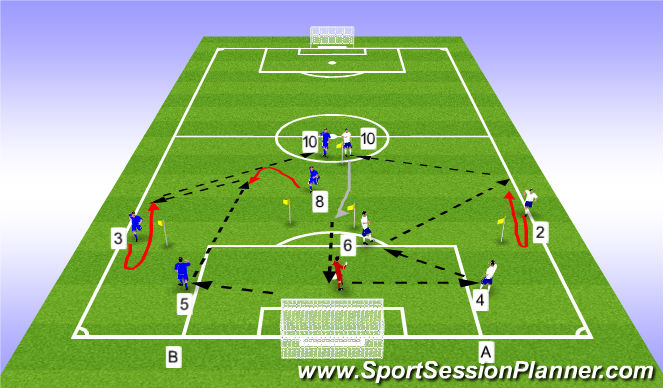 Football/Soccer Session Plan Drill (Colour): Inside/out basicos