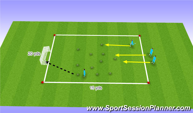 Football/Soccer Session Plan Drill (Colour): Egg Hunt