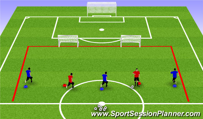 Football/Soccer Session Plan Drill (Colour): Dropping in Actvity