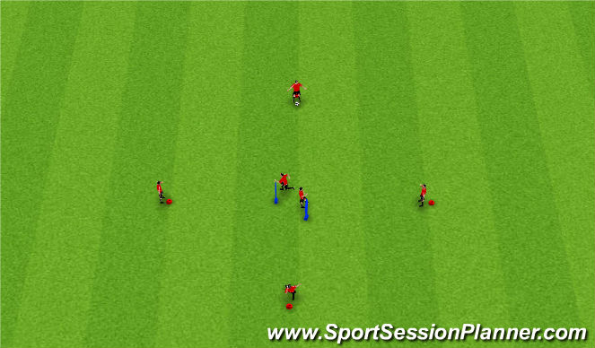 Football/Soccer Session Plan Drill (Colour): Turning Activity