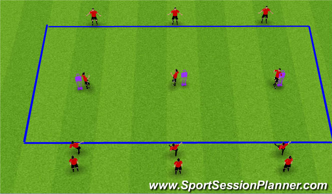 Football/Soccer Session Plan Drill (Colour): Reciving on the Half-Turn