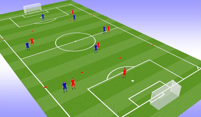 Football/Soccer Session Plan Drill (Colour): SSG-1v1 Everywhere