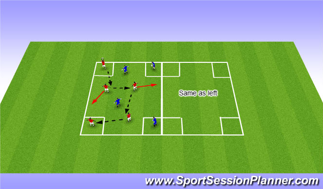 Football/Soccer Session Plan Drill (Colour): Fundemental Movement (Warm Up activity)