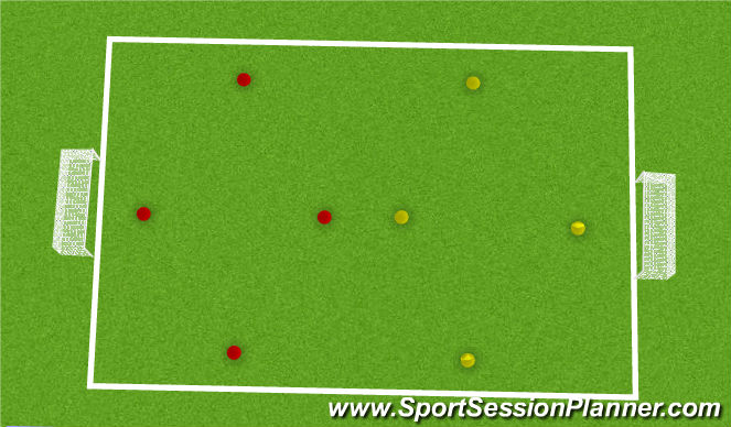 Football/Soccer Session Plan Drill (Colour): V shape SSG