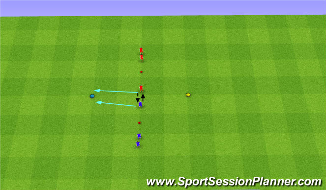 Football/Soccer Session Plan Drill (Colour): Warm Up - Neil Mitchell