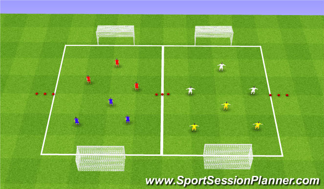 Football/Soccer Session Plan Drill (Colour): Mini Tournament