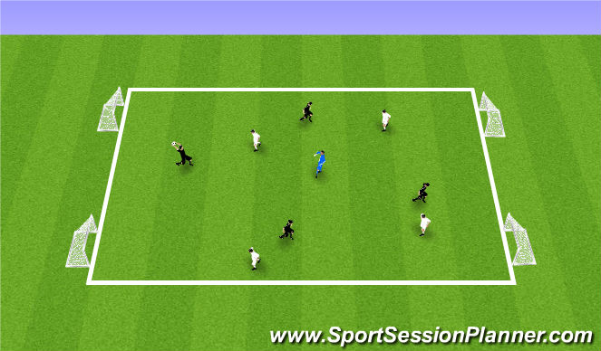 Football/Soccer Session Plan Drill (Colour): Handball - 4v4