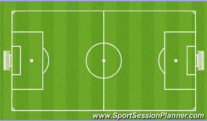 Football/Soccer Session Plan Drill (Colour): Futsal - 4v4