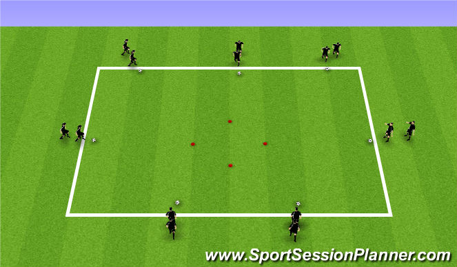 Football/Soccer Session Plan Drill (Colour): Ball Mastery - Technical Square